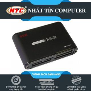 Đầu đọc thẻ nhớ đa năng SSK SCRM025 USB 2.0 All In 1 Card Reader III (Đen) - Nhất Tín Computer thumbnail