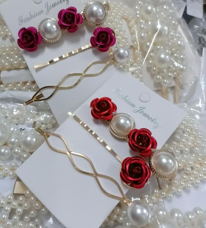 kẹp tóc set 3c hoa hồng siêu đẹp tốt nhất