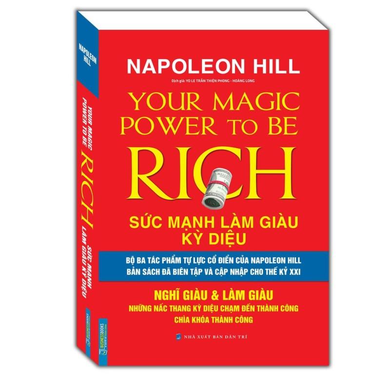 Sách Napoleon Hill Sức mạnh làm giàu kỳ diệu-Nghĩ giàu & Làm giàu - Mhbooks tặng bookmark