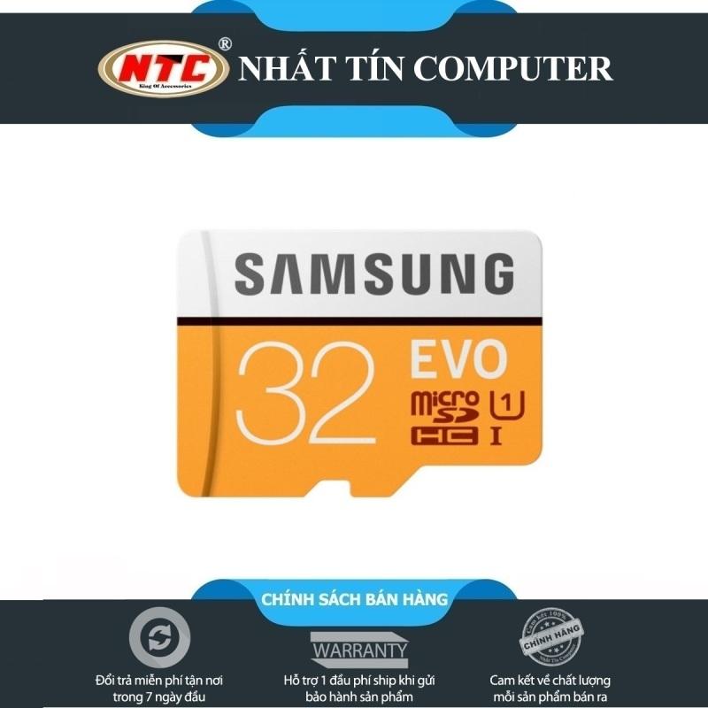 Thẻ Nhớ MicroSDHC Samsung Evo 32gb UHS-I U1 95MB/s (Cam) - Không Box
