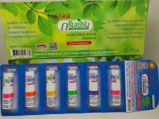 6 ống hít thông mũi green herb inhalant 2 in 1 chính hãng thái lan thumbnail