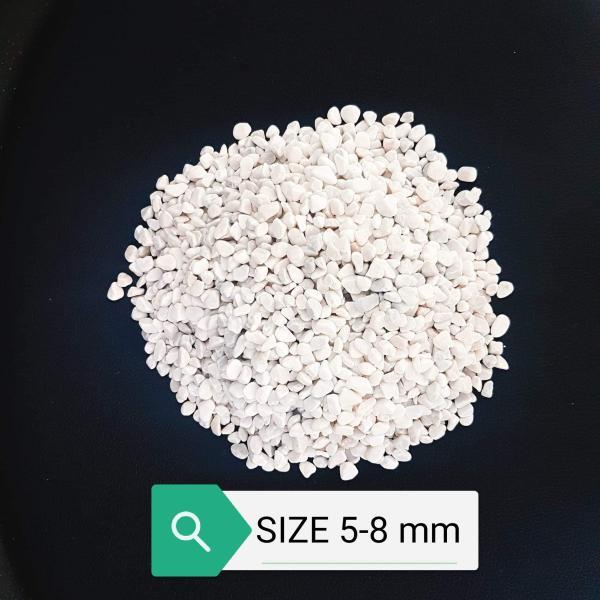 Sỏi đá trắng size nhỏ 5-8 Mm (2 KG) Trang Trí Bể Cá, Chậu Cây Cảnh, Terrarium, Sen Đá, Xương Rồng