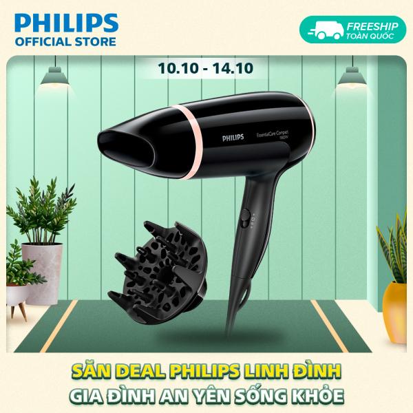 Máy sấy tóc Philips BHD004/00 1800W-3 cài đặt nhiệt và tốc độ- Đầu tán khí tạo kiểu tóc dày - Hàng phân phối chính hãng cao cấp