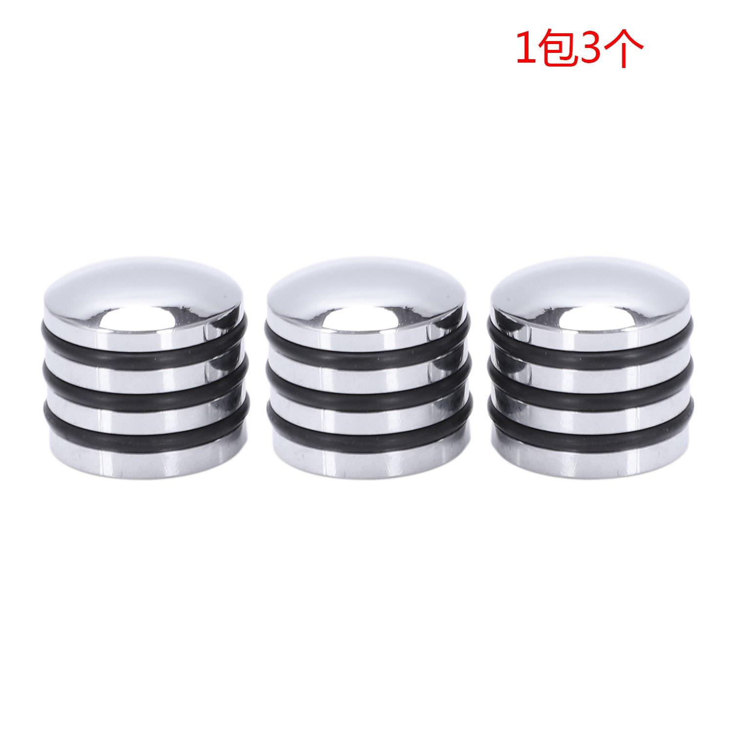 Guitar Bass Dome Control Knobs For 6Mm Split Or Solid Shaft O-Ring Silver Pack Of 3