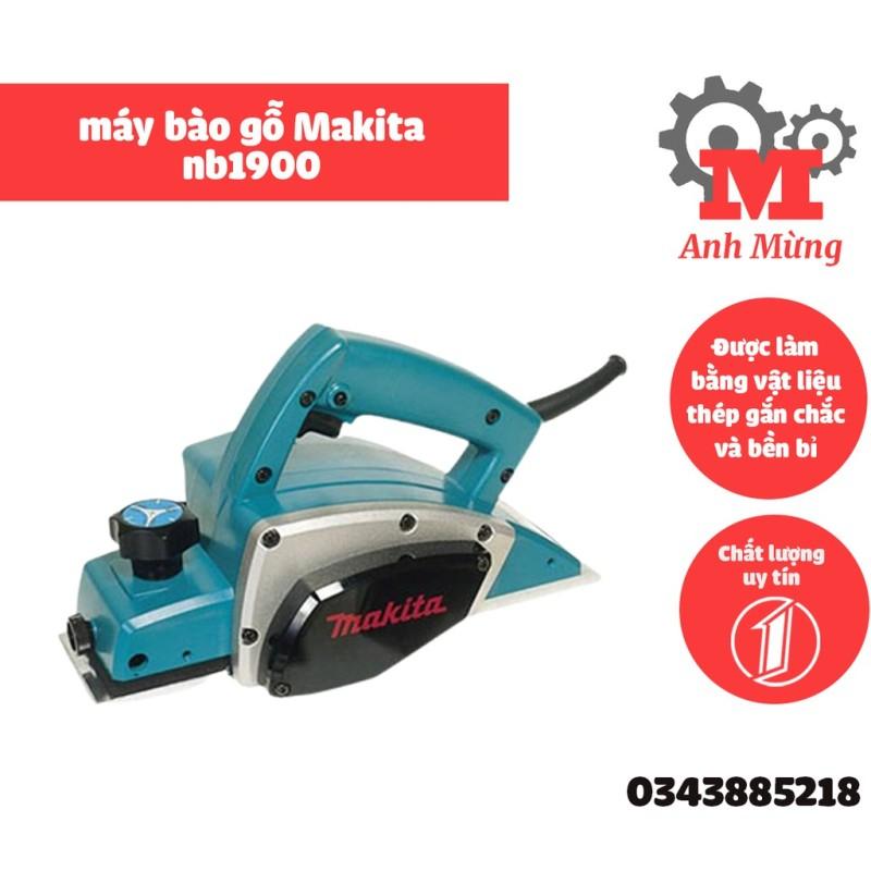 Máy bào gỗ Makita nb1900 công suất mạnh mẽ, dễ sử dụng trên bề mặt gỗ