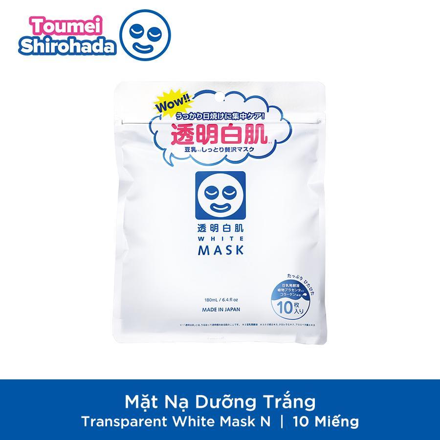 Mặt Nạ Dưỡng Trắng Transparent White Mask N (180 mL/10 Miếng) cao cấp