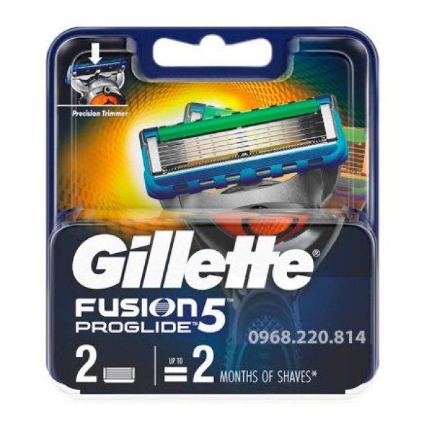 Lưỡi dao cạo râu Gillette Fusion5 Proglide (Vỉ 02 lưỡi) giá rẻ
