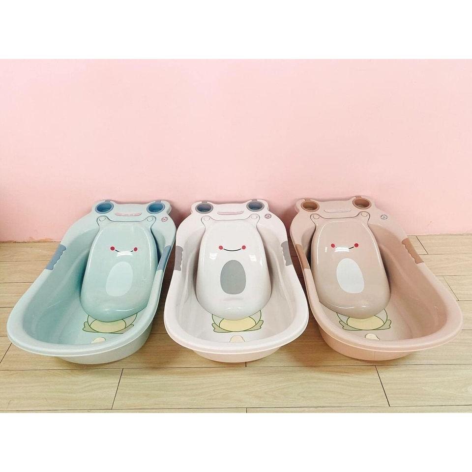 Chậu tắm cho bé - Thau tắm hình con ếch cho em bé , trẻ sơ sinh - bồn tắm cho bé