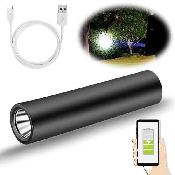 Đèn Pin Led Siêu Sáng Mini Có Sạc USB Có Hỗ Trợ Sạc Dự Phòng Lại Cho Điện Thoại Khẩn Cấp - mai lee - đèn pha led xe đạp - đèn pin gắn xe đạp - đèn trợ sáng