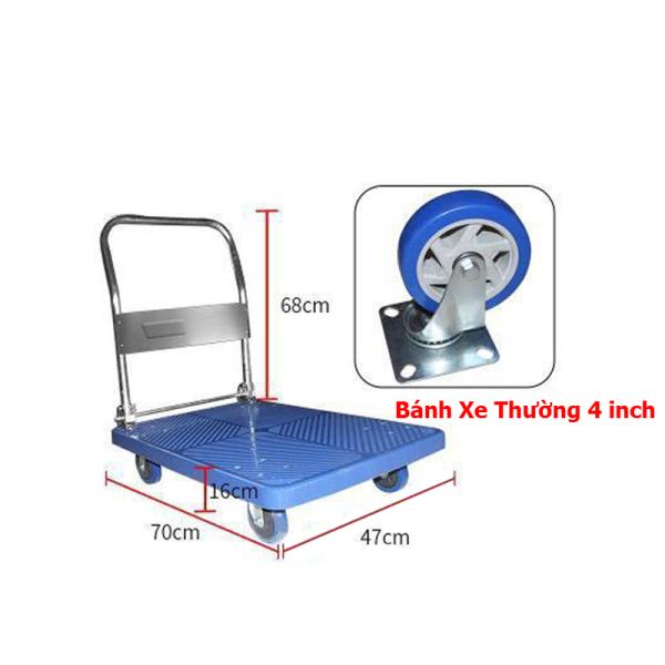Xe Đẩy Hàng Tải Trọng 150Kg (Kích Thước 48x71 cm)