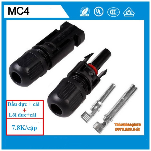 5 cặp Jack cắm tấm pin năng lượng mặt trời MC4 - 30A-1000 VDC