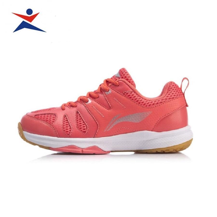 Bảng giá Giày cầu lông nam Lining AYTP034-2 mẫu mới thiết kế da bền bỉ, ôm chân, chống lật cổ chân dành cho nữ màu hồng đủ size