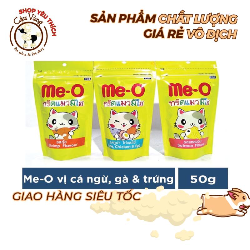 Bánh thưởng Thơm Ngon cho mèo Me-o 50gr - Snack thưởng cho mèo Me-o 50gr