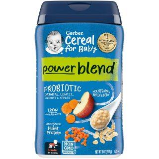 (Sản phẩm mới) Bột ăn dặm Gerber Yến mạch bổ sung Probiotic, Sắt cho bé trên 8 tháng tuổi thumbnail