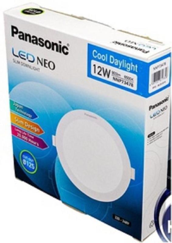 Đèn LED âm trần Panasonic 12W tròn NNP73478 Neo Slim [ khoét lổ phi 125mm ]