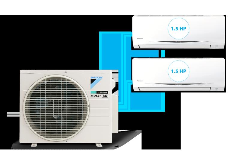 [Free Lắp HCM]  Multi S Combo MKC70SVMV Daikin Inverter Gas R32 Treo Tường 1 Chiều Lạnh Điều hòa Multi Daikin - Điện máy Sapho