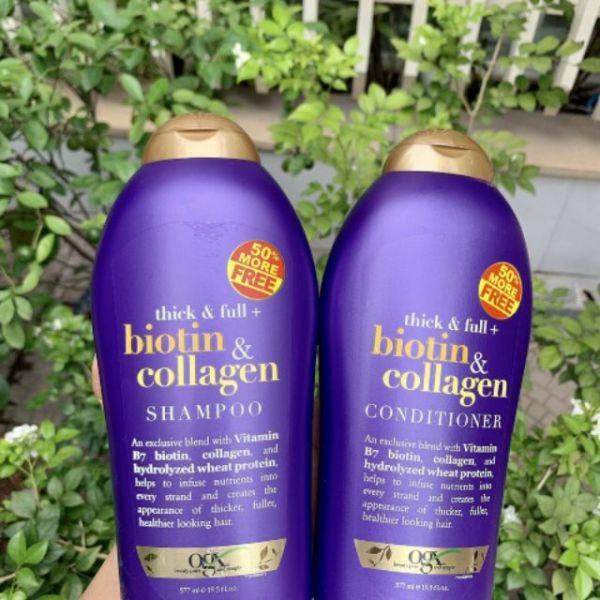 Dầu Gội Xả Biotin Collagen [Hàng Chính Hãng] Chống Rụng Tóc Và Kích Thích Mọc Tóc Nhanh, Hương Thơm Dịu, 577ml