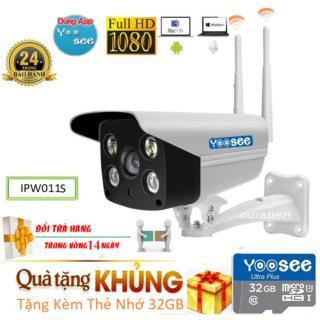 (Tặng Thẻ SD Cty chuẩn 32GBBH 24 Tháng)Camera wifi không dây YOOSEE ngoài trời & trong nhà Full HD 3.0 MPx 1920x1080p chống nước kháng bụi đàm thoại 2 chiềuban đêm có màuThu Âmcó báo động đèn sáng hú còilưu thumbnail