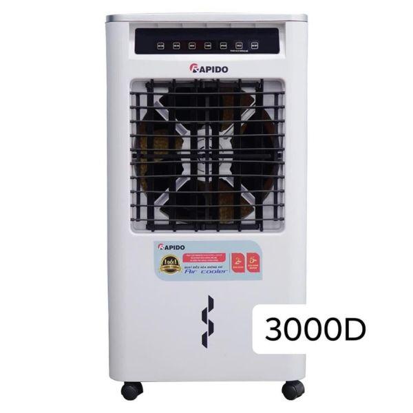 Quạt điều hòa không khí Rapido FRESH 3000D dung tích 20L (Có thể lắp thêm tấm lọc nano bạc)