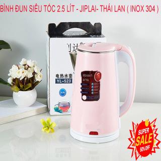 (SIÊU SALE) BÌNH ĐUN SIÊU TỐC 2.5 LÍT - JIPLAI- THÁI LAN ( INOX 304 ) Bình đun siêu tốc, bền đẹp, an toàn, giá rẻ, Ấm Siêu Tốc 2 Lớp Thái Lan JipLai 2.5 Lít Cao Cắp Chống Giật Công Nghệ INVENTER Tiết Kiệm Điện Và Đun Sôi Cực Nhanh thumbnail