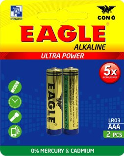 Pin Con Ó (EAGLE) LR03 Alkaline AAA - Combo 3 vỉ (6 viên) thumbnail