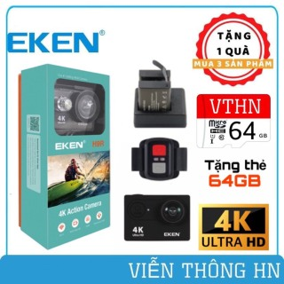 [ TẶNG THẺ NHỚ 64GB ] Camera eken 4k h9r bản mới v8 nâng cấp 20mp tặng 1 pin và 1 đốc sạc đôi - camera ip wifi xe máy ô tô phượt chống nước chống sốc - vienthoonghn thumbnail