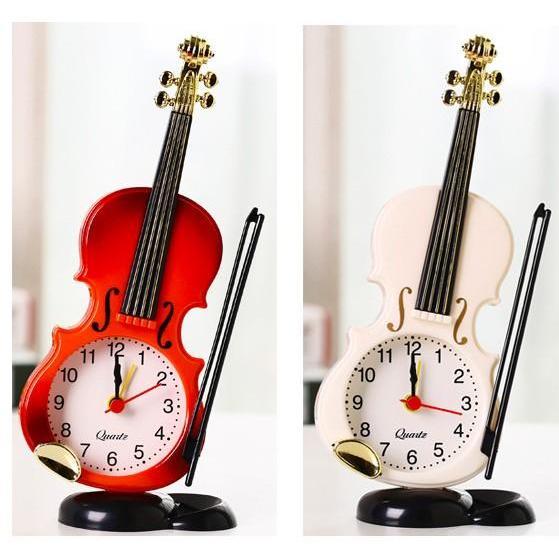 Nơi bán Đồng hồ để bàn hình cây đàn Violin TẶNG PIN - 2 màu - Đồng hồ để bàn, đồng hồ báo thức hot của năm - DH25