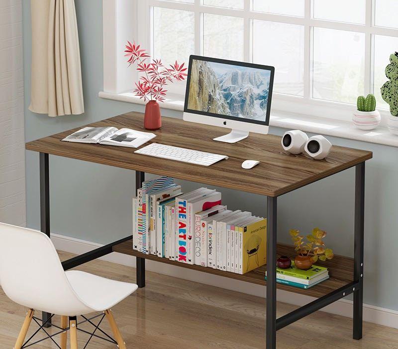 Tâm House Bàn làm việc, bàn văn phòng, bàn liền kệ đa năng (100X37cm) - B24