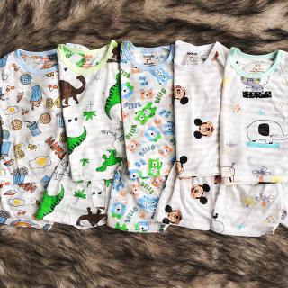 [HCM]Bộ cotton sợi tre cộc tay mát mẻ cho bé trai và bé gái 2-13kg chất thun co giãn đủ họa tiết đáng yêu BBShine BVN036 thumbnail