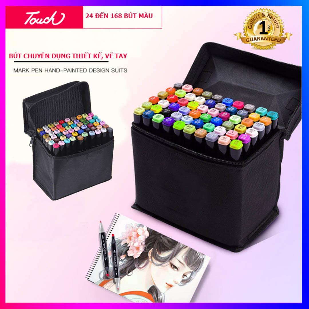 Bộ bút màu Touch 7, bút dạ màu anima cao cấp (168 màu, 80 màu, 60 màu, 40 màu) + có kèm theo túi đựng