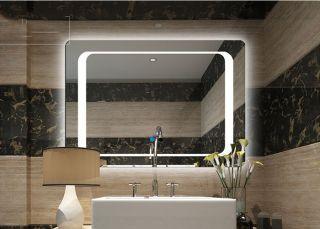 [600 x 800mm] Gương đèn led phòng tắm GD09 - Tích hợp đèn led và công tắc cảm ứng trên gương thumbnail