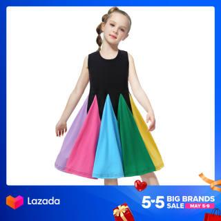 NNJXD Trẻ em gái Váy trẻ em Quần áo trẻ em Bán Giá Rẻ Giá Trang Phục Bé Gái Mùa Hè Mới 2021 Ưa Thích Cho Bé Gái Váy Cầu Vồng Váy Công Chúa Đầm Bé Gái Mùa Hè Cho Trẻ Em Không Tay Cho Bé Gái Giảm Giá
