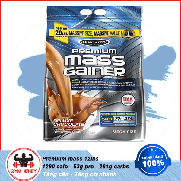 [HCM][Lấy mã giảm thêm 30%]Sữa Tăng Cân Tăng Cơ Nhanh Muscletech Premium Mass 12 Lbs 5.4kg - TỪ Châu Âu