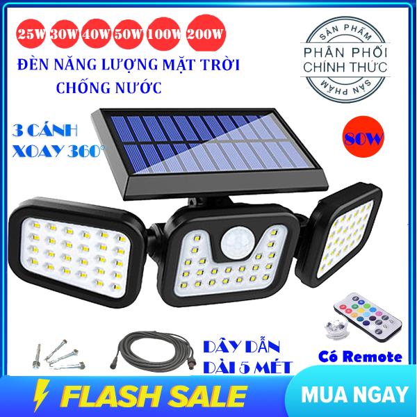 Bảng giá (Tặng Remote , Dây dẫn dài 5 mét ) Đèn năng lượng mặt trời 80w solar light , đèn năng lượng chống nước , đèn năng lượng mặt trời cảm biến sáng tối , đèn led siêu sáng