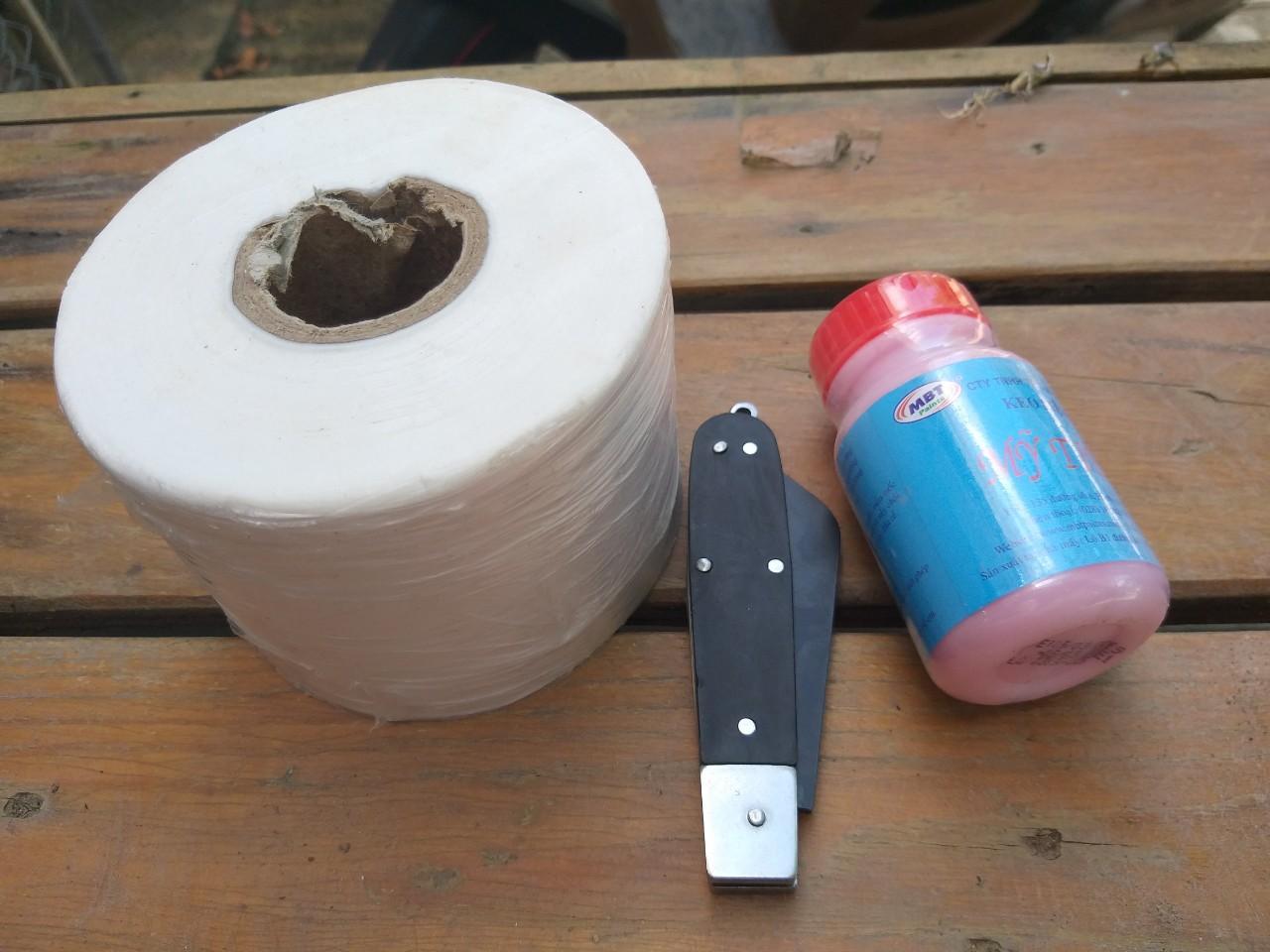 Combo đồ ghép cây - dao ghép, cuộn giấy ghép, keo liền sẹo