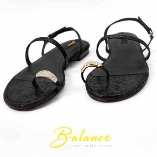 [HCM]Balance Giày Sandal Nữ Quai Mảnh - Black Edition thumbnail