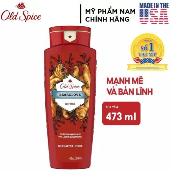[USA] Sữa tắm nam Gel Old Spice BeargLove 473ml Wild Collection - Mỹ
