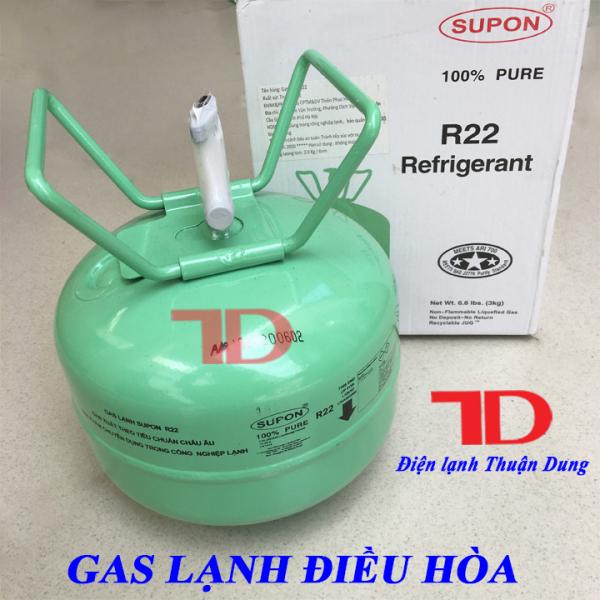 Gas lạnh điều hòa R22 SUPON 3KG, Môi chất lạnh R22