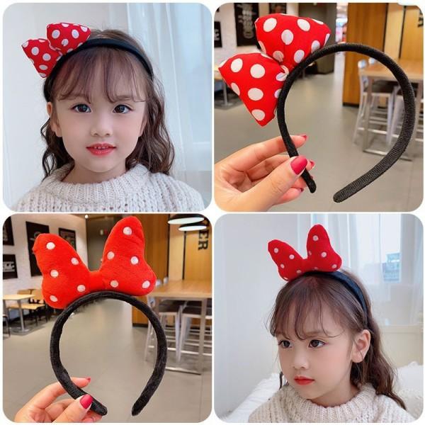 [HCM]cài nơ đỏ mickey cực xinh cho bé phong cách Hàn Quốc - bờm nơ mickey dễ thương vải min chụp ảnh - selenshop