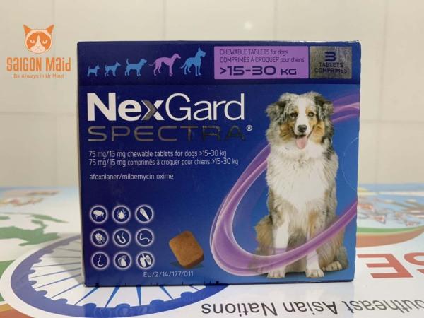 Viên NexGard Spectra dành cho cún cưng của bạn (chó 15 - 30kg)