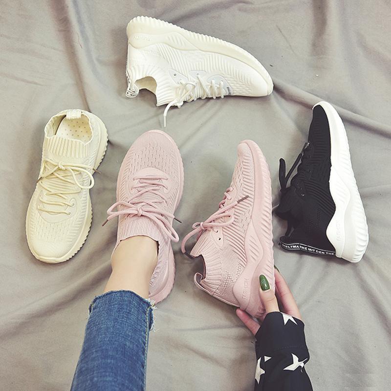 Giày thể thao sneaker nữ độn đế siêu êm HAPLI mã APB1 (hồng, đen, kem) Nhật Bản
