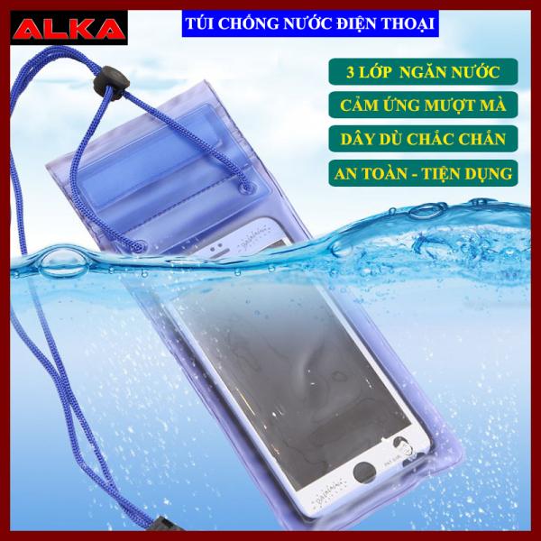 Túi đựng điện thoại chống nước trong suốt, thiết kế chắc chắn, an toàn, phù hợp với tất cả các dòng điện thoại, màu sắc đa dạng, có kèm dây đeo tiện lợi.