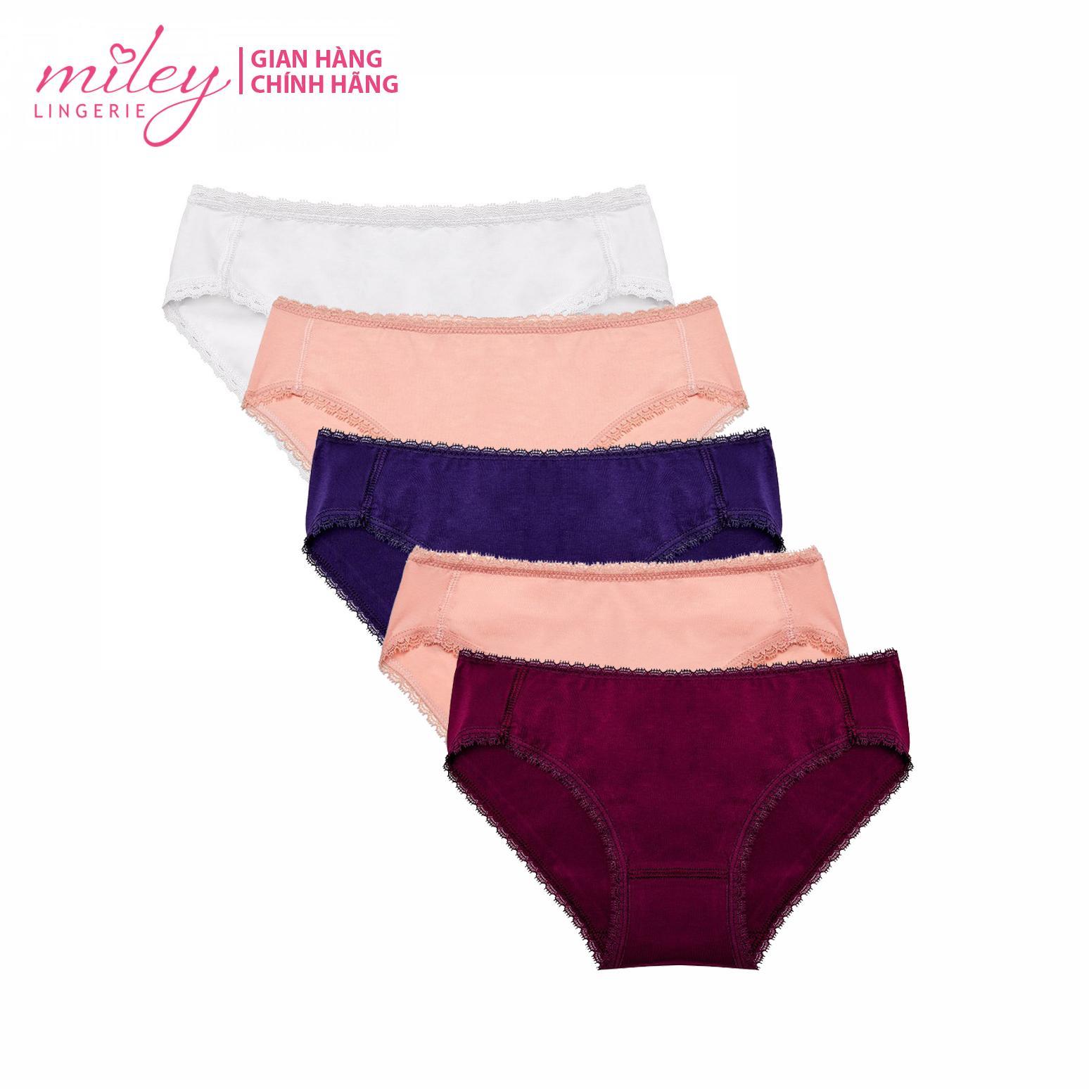 Bộ 5 Quần Lót Nữ Fashion Cotton MILEY LINGERIE Đang Có Khuyến Mãi