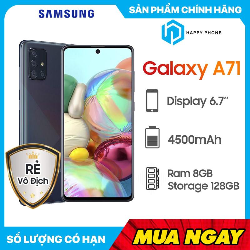 Điện Thoại Samsung Galaxy A71 ROM 128GB RAM 8GB - Hàng chính hãng, Nguyên seal, mới 100%, Bảo hành 12 tháng