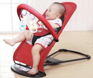 Ghế nhún cho bé nằm chơi có thanh treo đồ chơi thumbnail