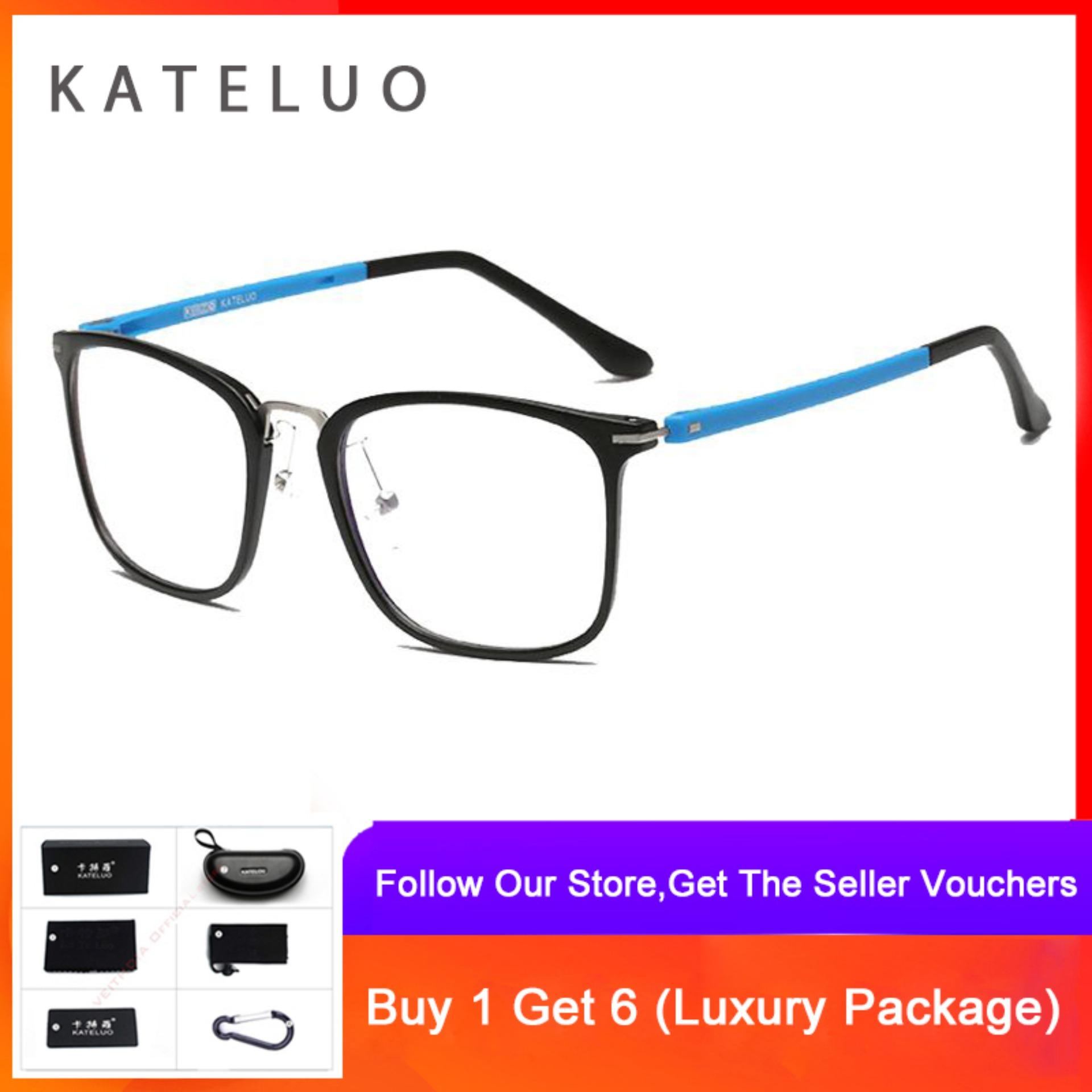 KATELUO Computer Goggles Anti Blue Laser Ray Fatigue Radiation-resistant TR-90 Glasses Eyeglasses Frame Eyewear 9928