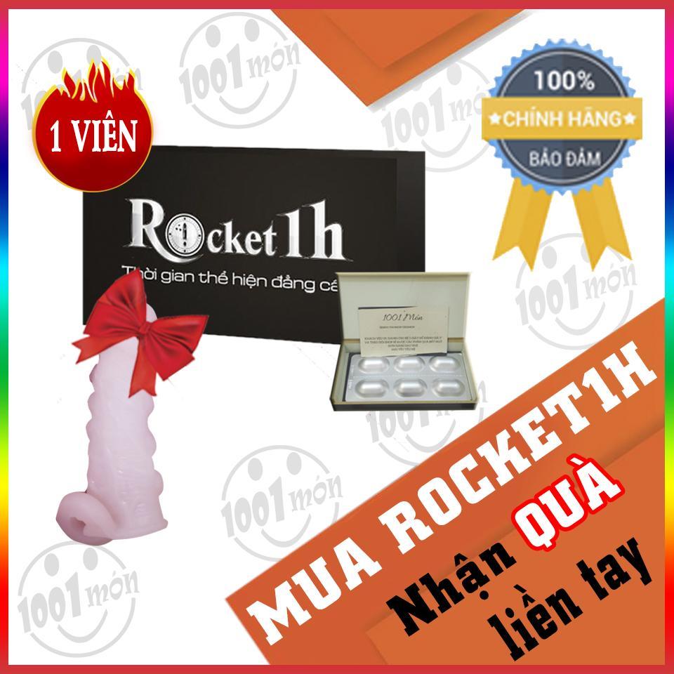 Mua 1 viên rocket 1h hỗ trợ tình dục nam + tặng 1 bao cao su đôn bi liti có quai đeo - 1001 món