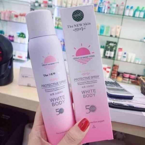 Xịt chống nắng kích trắng White Body The New Skin 2019 nhập khẩu