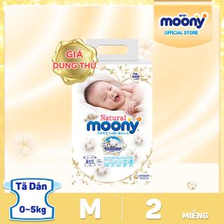 [Voucher 40K + QUÀ MỚI]Tã dán Moony Natural Newborn gói 2 miếng - Giá dùng thử thumbnail