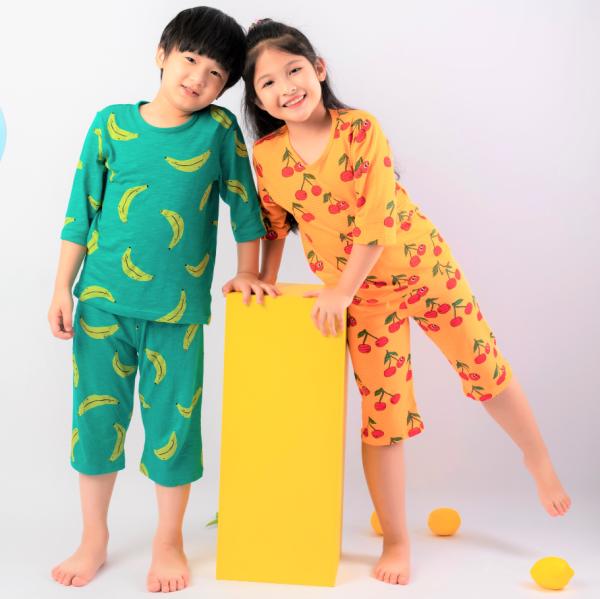 Nơi bán Đồ bộ lửng cotton cho bé trai, bé gái mặc mùa hè chính hãng Unifriend Hàn Quốc  2021, Bộ quần áo trẻ em 2-12 tuổi